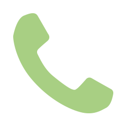 A light green phone icon